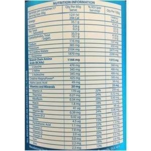 Anabolic Armour Nutritional Info
